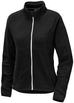 didriksons monte dame fleece jakke - black