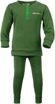 didriksons moarri undertøy barn - green striped