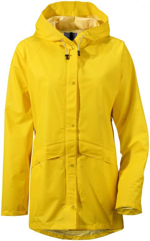 didriksons avon regnjakke dame - yellow