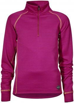 didriksons pim half-zip fleece junior - lilac striped