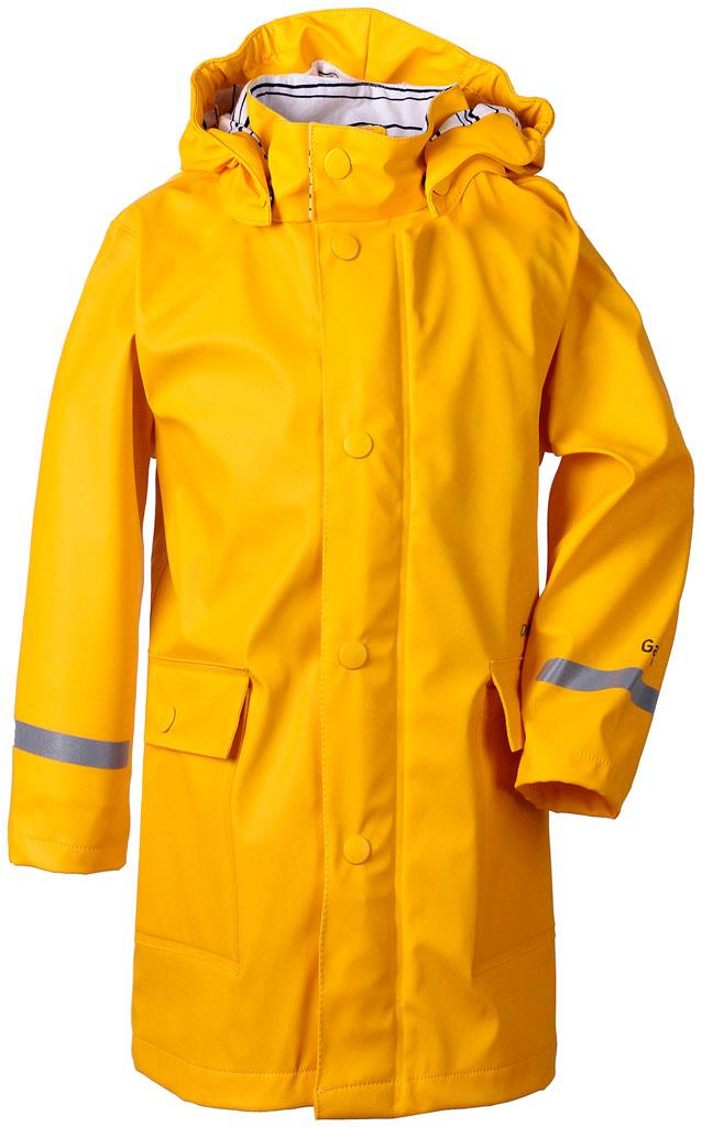 didriksons makrill regnjakke barn - yellow
