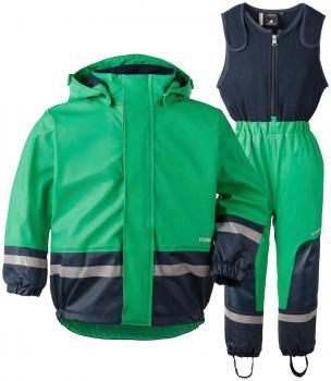 didriksons boardman regnsett barn - brightgreen
