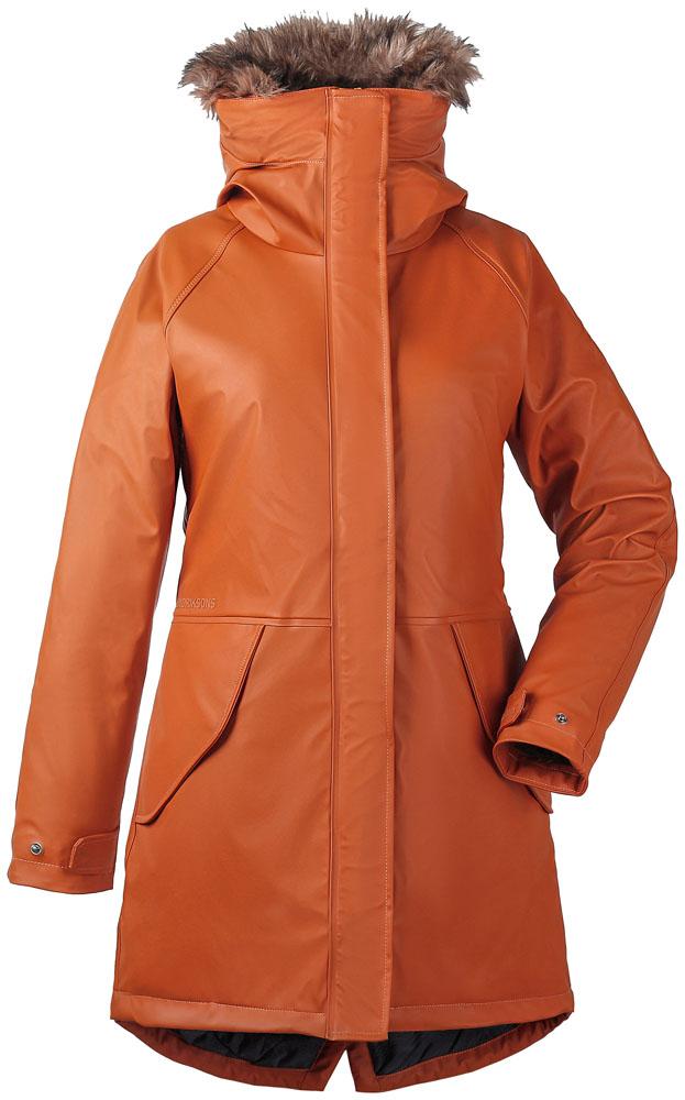 didriksons brisa vinterparka dame - leather