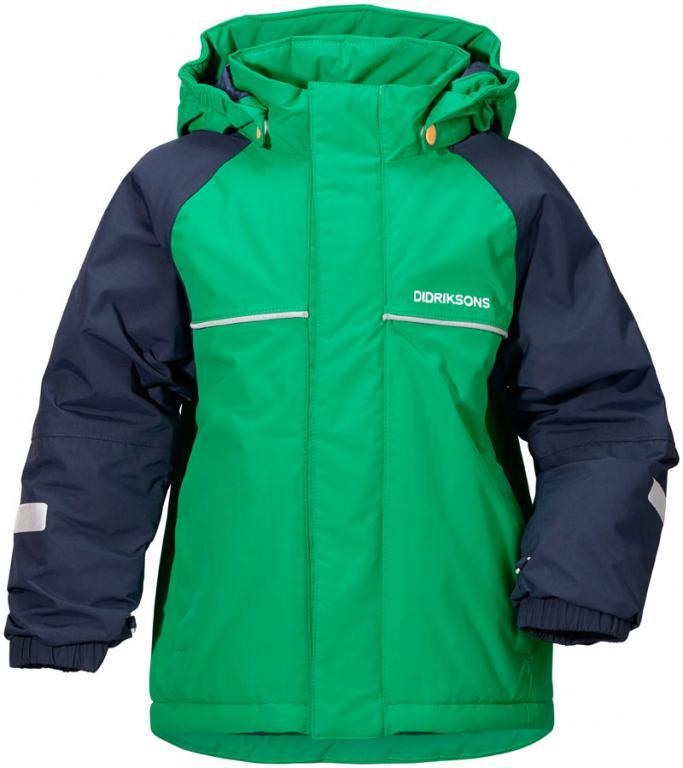 didriksons idde vinterjakke barn - brightgreen