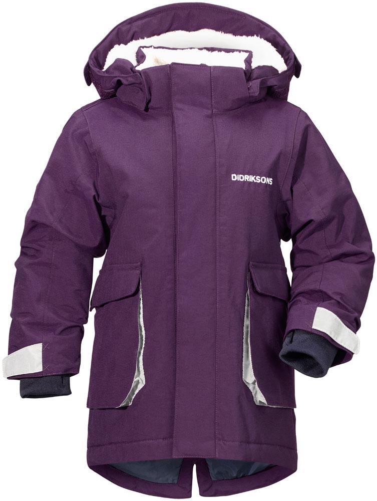 didriksons indre vinterparka barn - violet