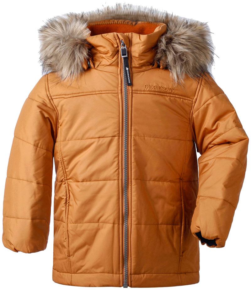 didriksons malmgren vinterjakke barn - leather
