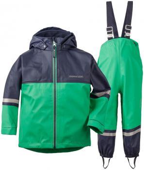 didriksons waterman regnsett barn - brightgreen