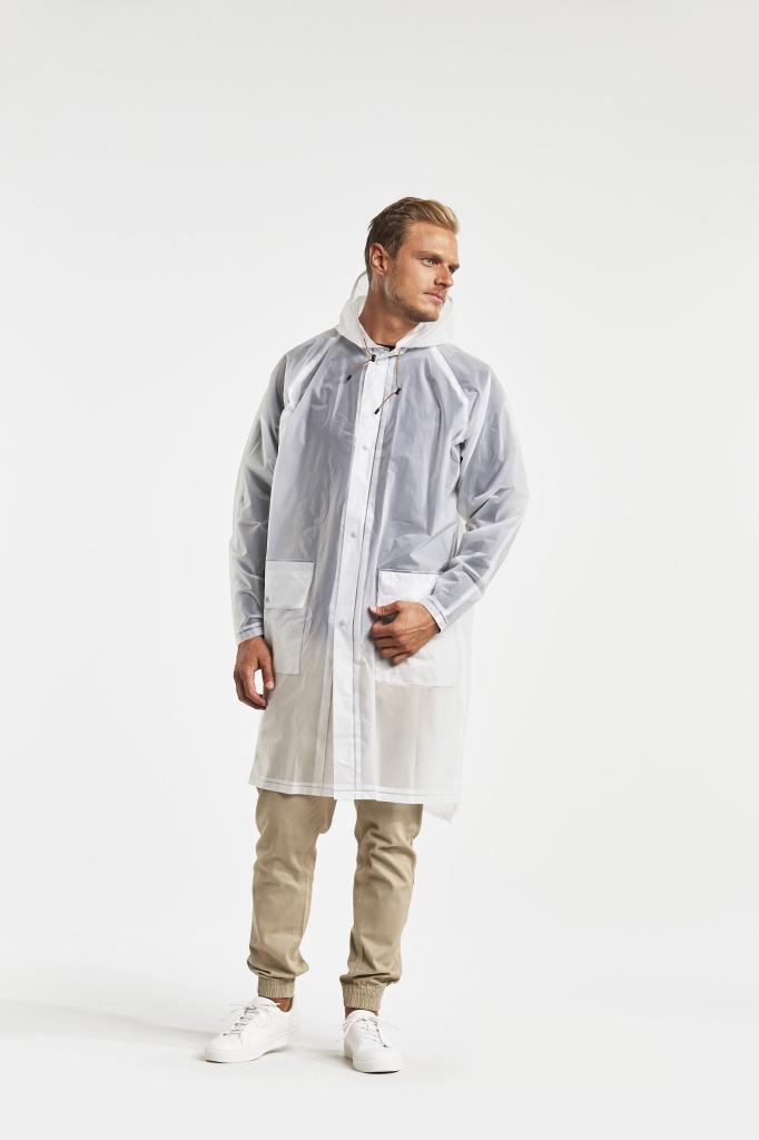 didriksons eva frakk herre - transparent grey