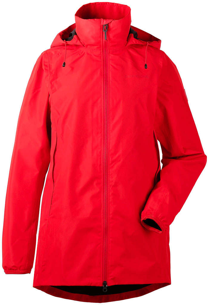 didriksons noor parka dame - chili red