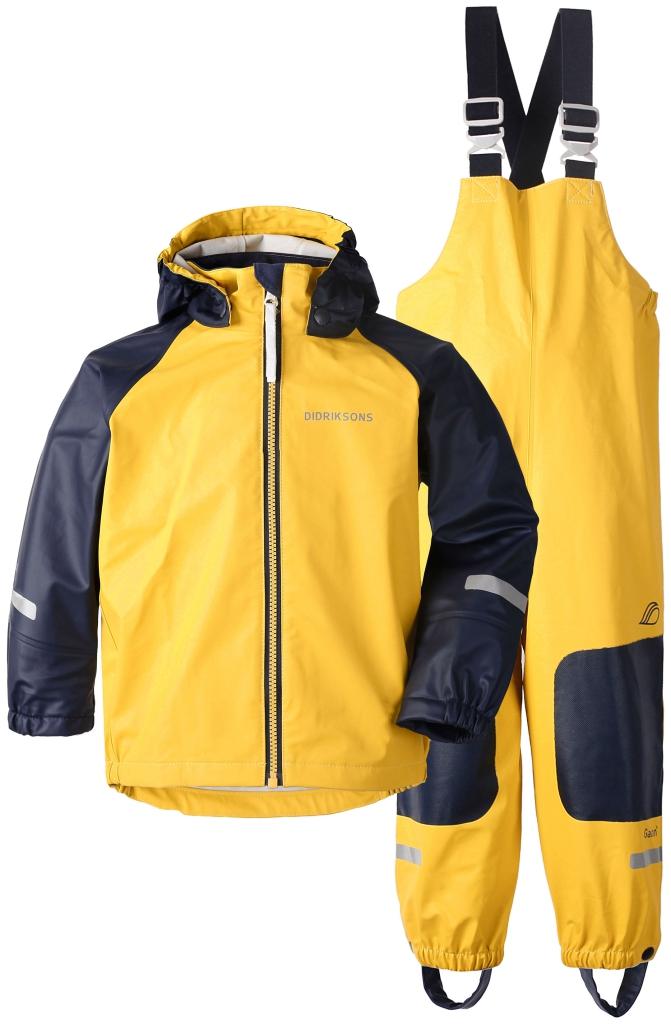 didriksons stormman regnsett barn - yellow