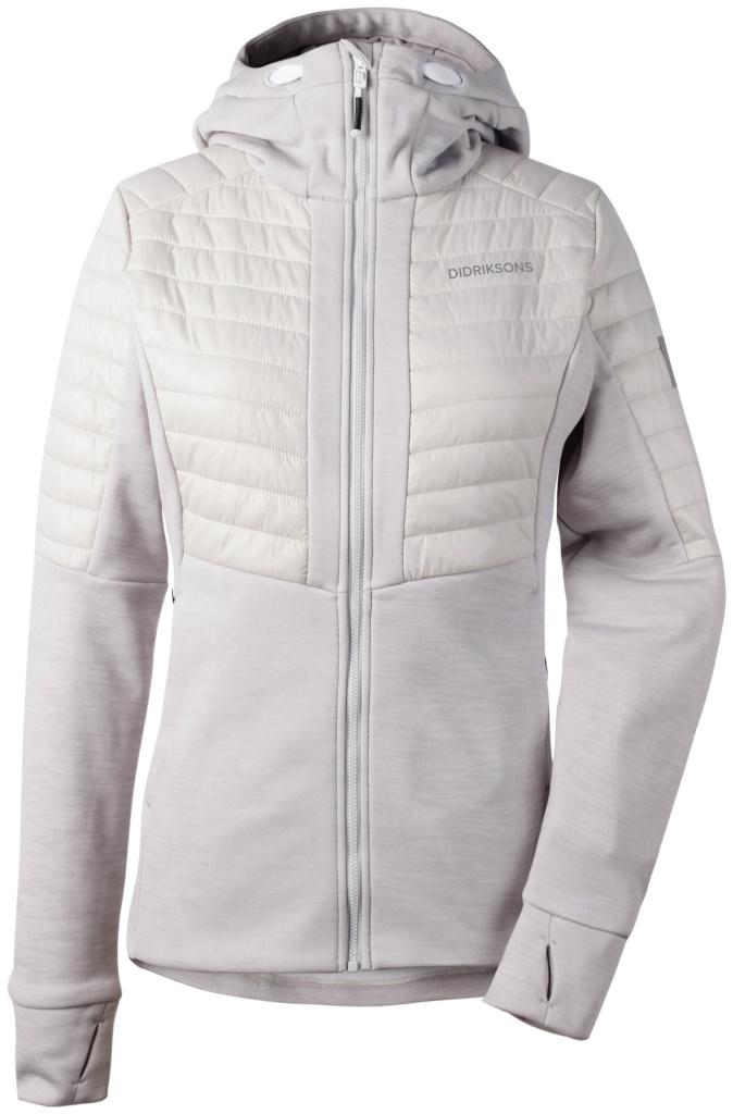 didriksons annema jakke dame - aluminum