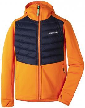 didriksons halden hoodie gutt - strong orange