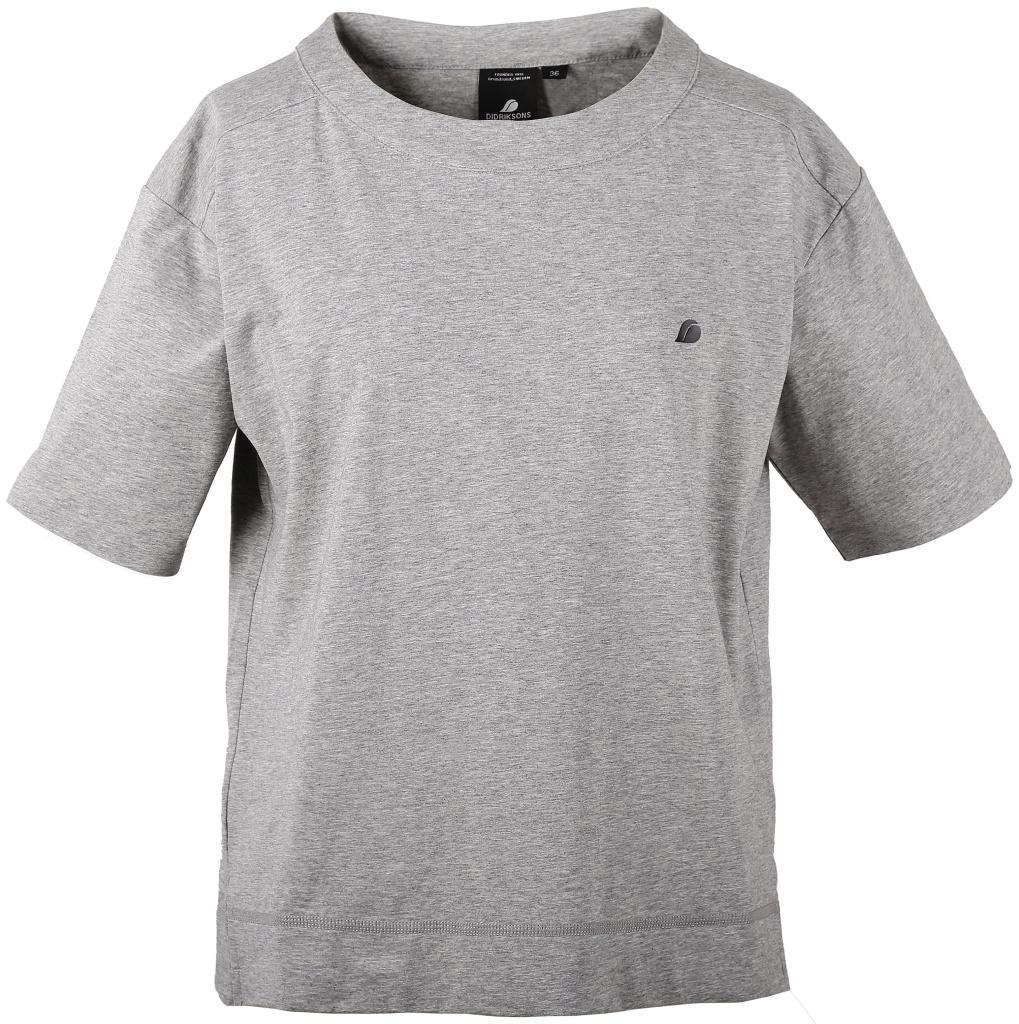 didriksons hermine t-skjorte dame - greymelange