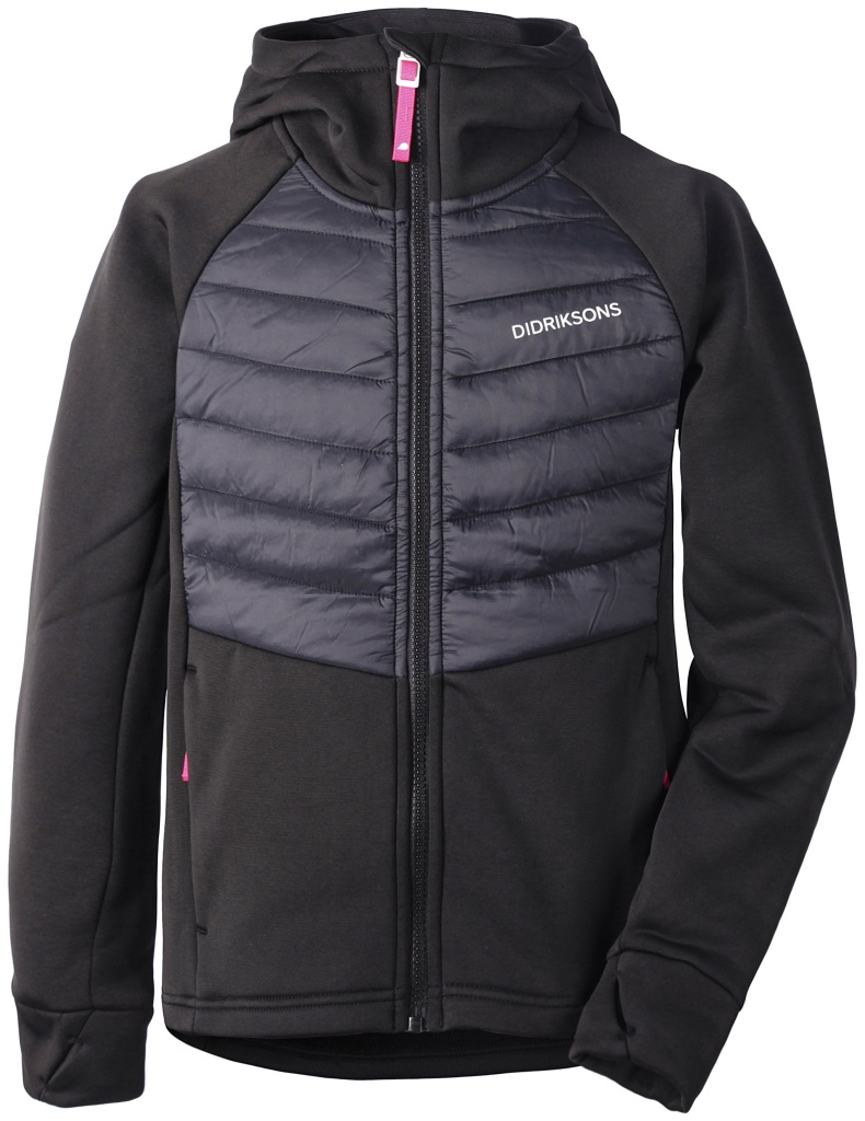 didriksons tovik hoodie jente - black